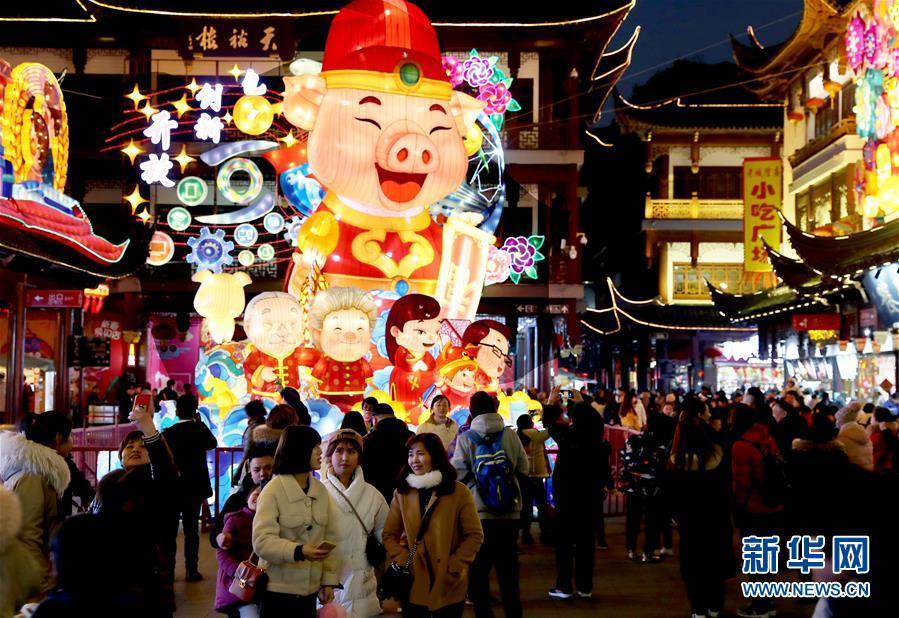 2019豫园新春民俗艺术灯会亮灯
