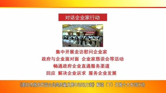《廊坊市服务民营企业高质量发展年活动方案》解读(下)开展十大专项行动