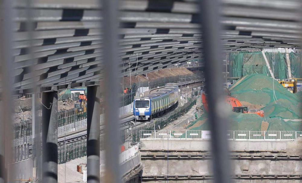 今年6月底京张高铁清河站主体结构将完工