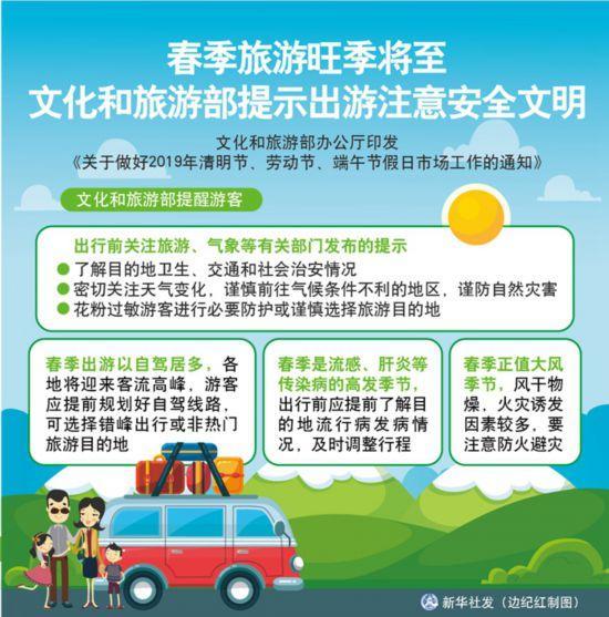 春季旅游旺季將至 文化和旅游部提示出游注意安全文明