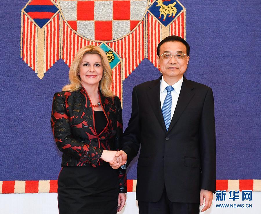 李克強會見克羅地亞總統基塔羅維奇