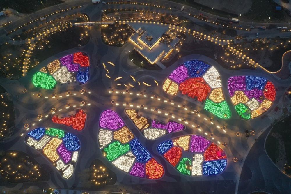 北京世園會園區亮燈