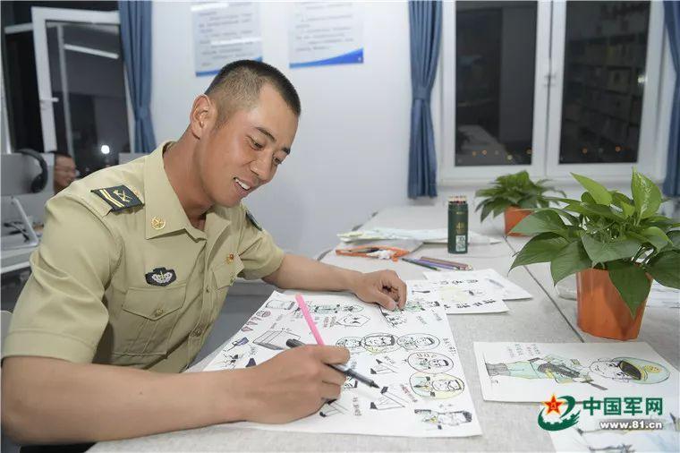 火箭軍方隊兵哥哥手繪閱兵生活點滴,畫風超萌!