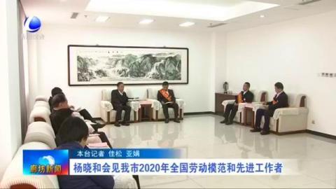 杨晓和会见我市2020年全国劳动模范和先进工作者