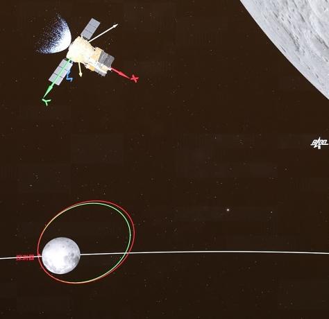 """嫦娥五号探测器成功""""刹车""""制动 进入环月轨道飞行"""