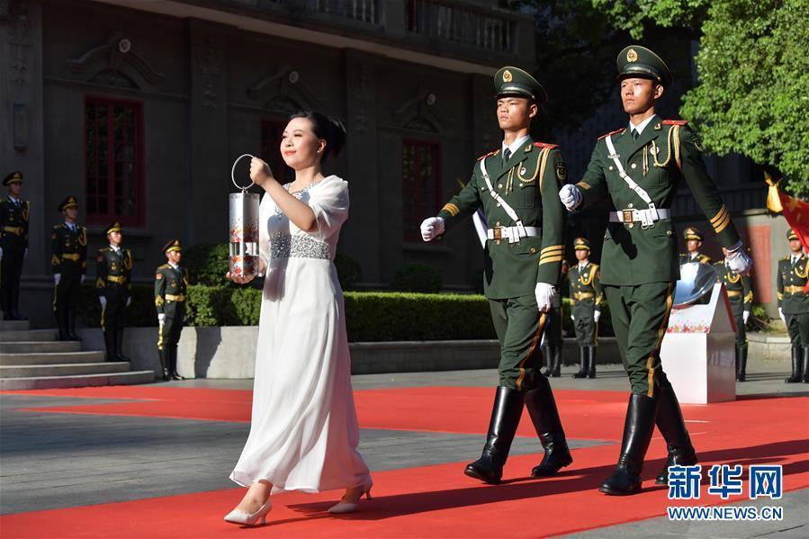 第七届世界军人运动会圣火火种采集和火炬传递启动仪式在南昌举行