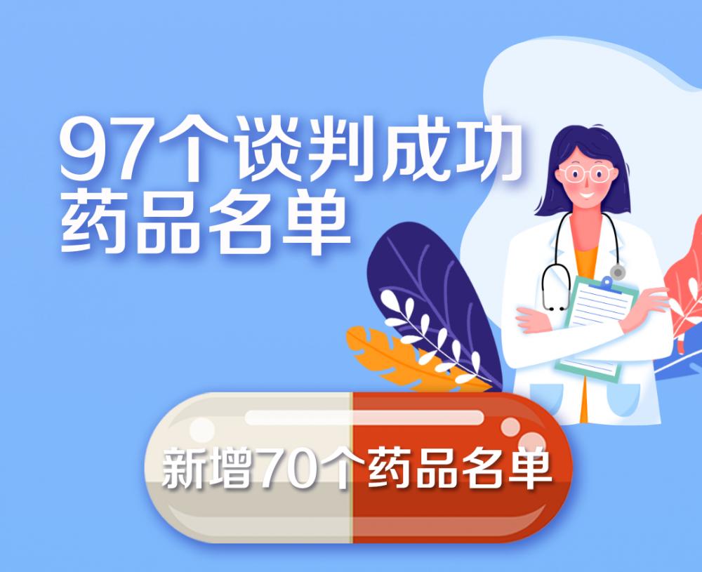 """重磅官宣!国家医保药品新增70个 这批好药救命药都是""""平民价"""""""