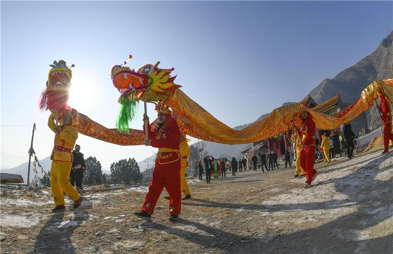 河北遵化:排练民俗迎新春