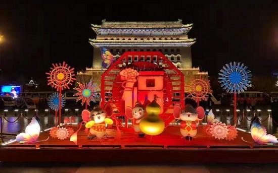 北京春节景观布置基本完成