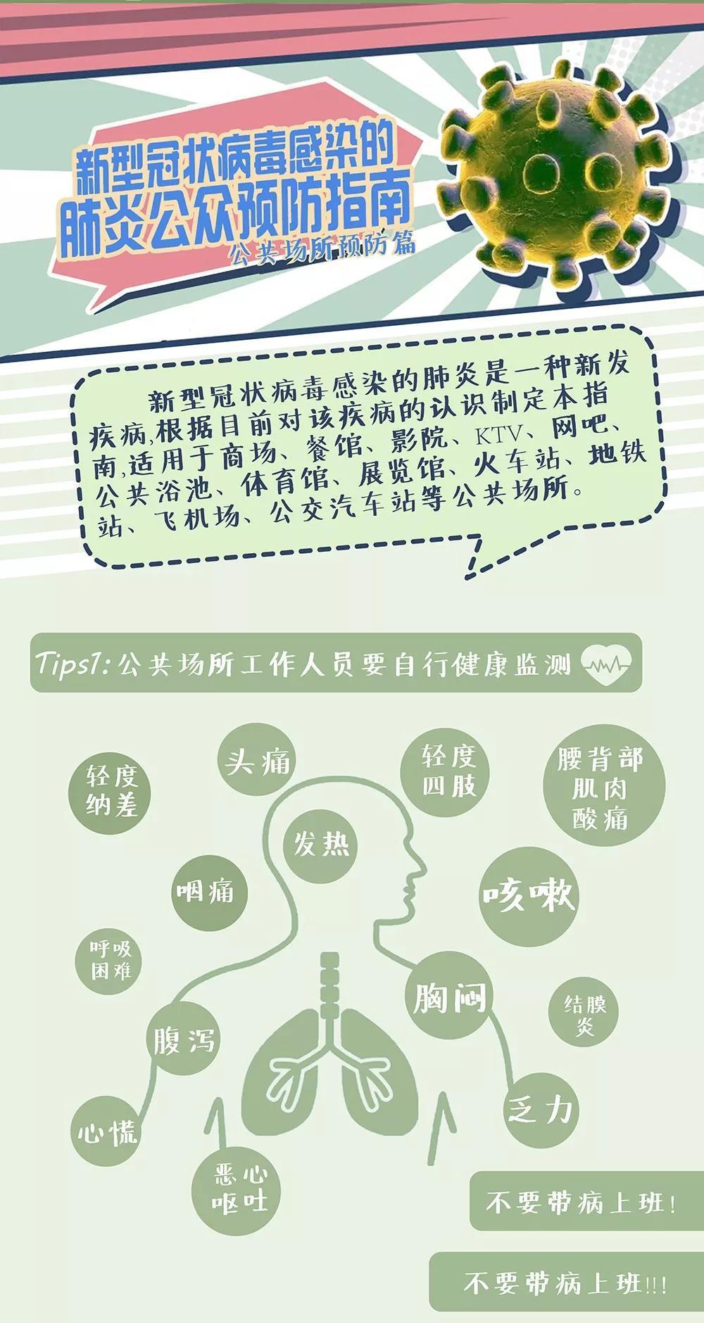 新型冠状病毒感染的肺炎公众预防指南——公共场所预防篇