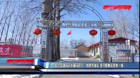 安次区调河头乡前马庄村:党员先锋队 坚守疫情防控第一线