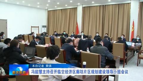 冯韶慧主持召开临空经济区廊坊片区规划建设领导小组会议