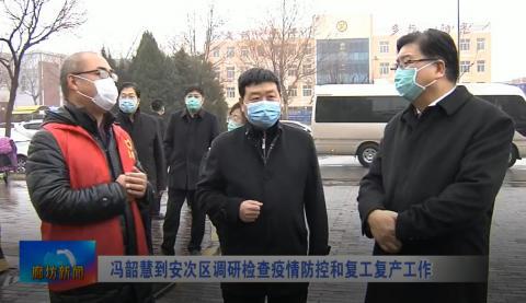 冯韶慧到安次区调研检查疫情防控和复工复产工作