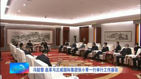 冯韶慧、赵革与正威国际集团张小青一行举行工作座谈