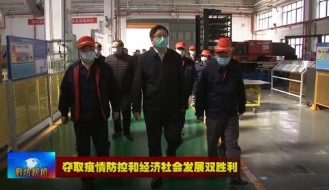 冯韶慧到廊坊开发区调研检查企业复工复产情况