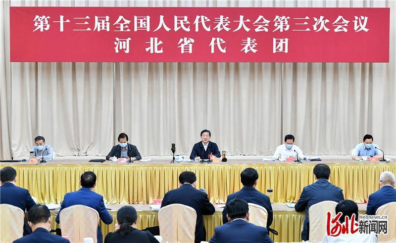 """河北省代表团审议""""两高""""报告等 王东峰发言 许勤参加"""