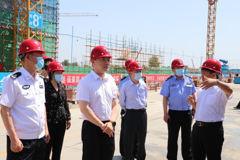 廊坊市副市长、市公安局局长赵晋进赴临空经济区调研