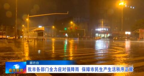 我市各部門全力應對強降雨 保障市民生產生活秩序正常