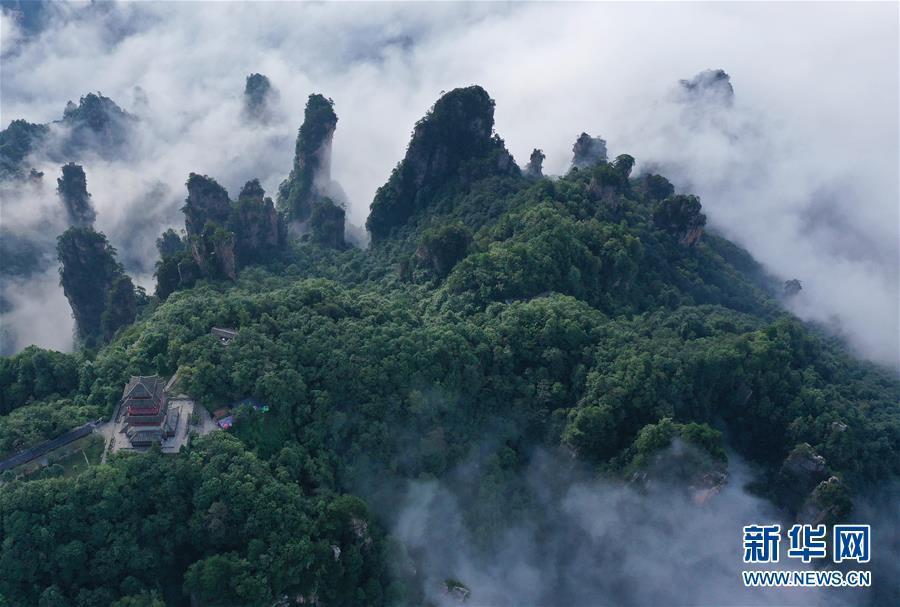 湖南张家界:云起山峰间