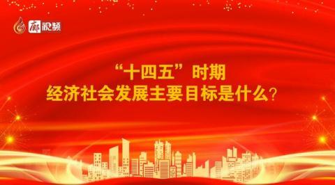"""廊视频丨党的十九届五中全会精神解读:""""十四五""""时期经济社会发展目标是什么"""