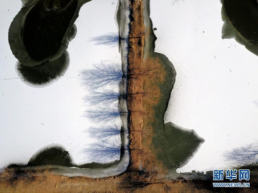 冬日水墨画