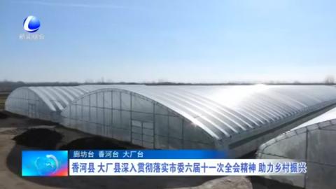 香河县 大厂县深入贯彻落实市委六届十一次全会精神 助力乡村振兴