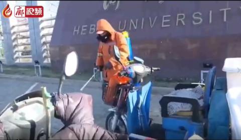 廊視頻 防疫消殺廣陽區環衛局在行動