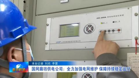 国网廊坊供电公司:全力加强电网维护 保障持续稳定运行