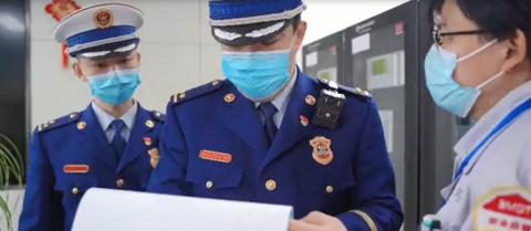 河北固安:消防安全检查迎新春