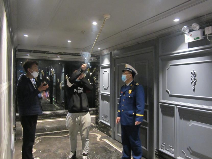 廊坊市廣陽區消防救援大隊對轄區賓館開展消防安全常態化檢查