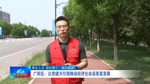 广阳区:以党建为引领推动经济社会高质量发展