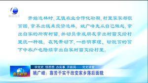 【党史讲堂】姚广峰:靠苦干实干改变家乡落后面貌