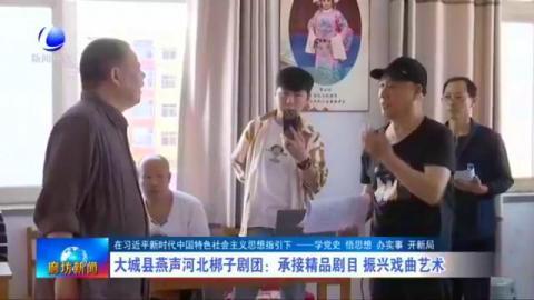 大城县燕声河北梆子剧团:承接精品剧目 振兴戏曲艺术