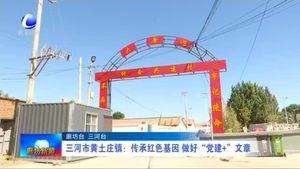 """三河市黄土庄镇:传承红色基因 做好""""党建+""""文章"""