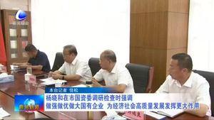 杨晓和在市国资委调研检查时强调 做强做优做大国有企业 为经济社会高质量发展发挥更大作用