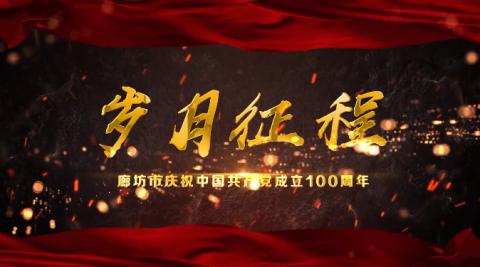 【庆祝建党100周年】向党深情告白!廊坊版《岁月征程》MV发布