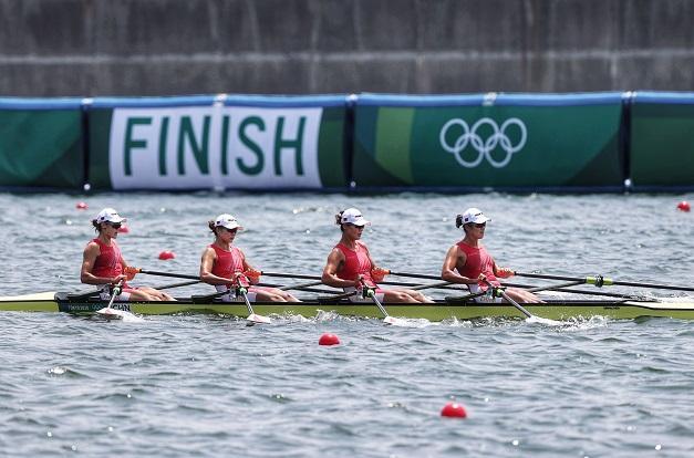 东京奥运会赛艇女子四人双桨 中国队刷新世界最佳成绩夺金